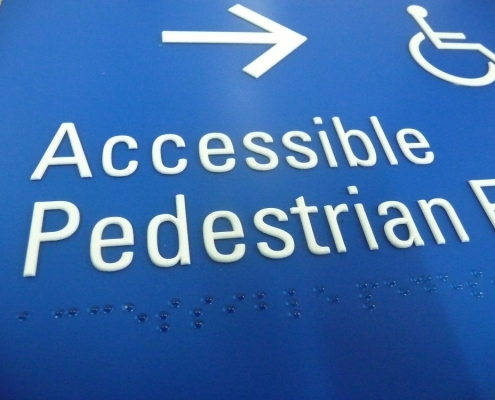 accessible pedestrian entry